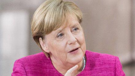 """Bundeskanzlerin Angela Merkel steht im """"heute journal"""" Rede und Antwort. (ili/spot)"""
