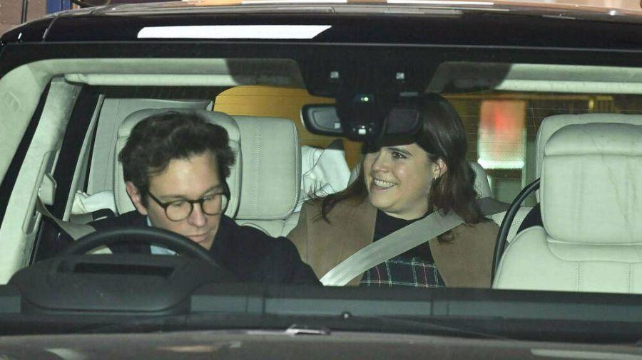 Prinzessin Eugenie und ihr Mann Jack Brooksbank verlassen das Portland Hospital in London. (dr/spot)
