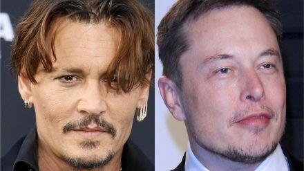 Johnny Depp (li.) hofft auf Elon Musk. (jom/spot)