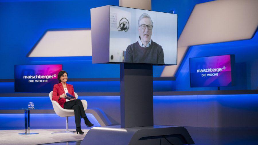 """Sandra Maischberger interviewt Bill Gates für """"maischberger. die woche"""" (stk/spot)"""
