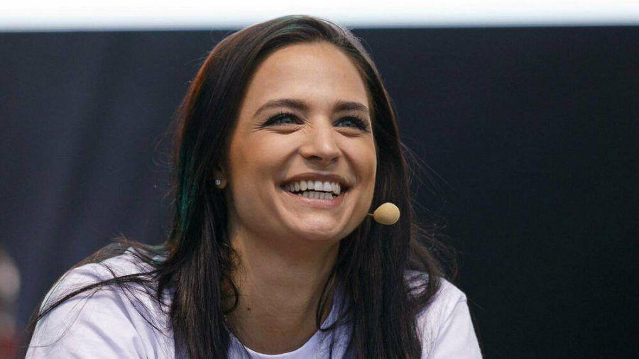 Amira Pocher bei einem Auftritt in Bonn. (hub/spot)
