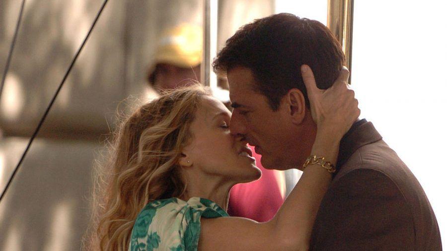 "Sarah Jessica Parker und Chris Noth bei den Dreharbeiten zum ""Sex and the City""-Film 2007. (hub/spot)"