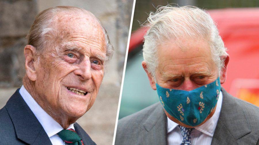 Prinz Charles (re.) hat Prinz Philip im Krankenhaus besucht. (cos/spot)