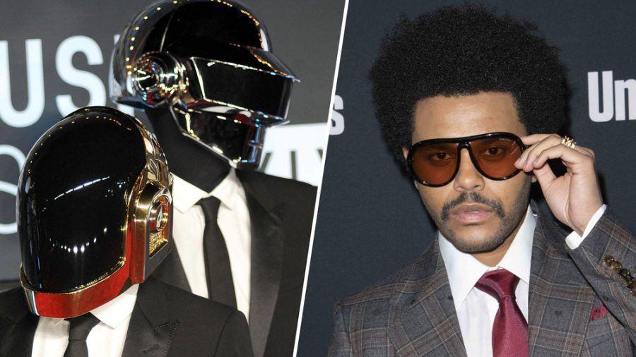 Daft Punk konnten zusammen mit The Weeknd (re.) große kommerzielle Erfolge feiern. (jru/spot)