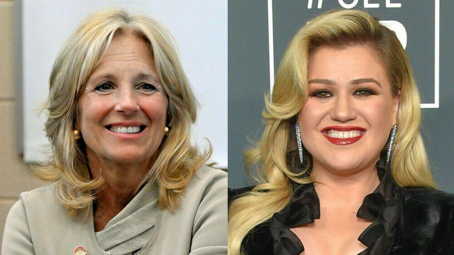 US-First-Lady Jill Biden (l.) war bei Kelly Clarkson zu Gast (ili/spot)