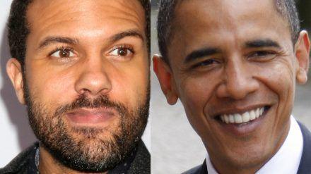 O-T Fagbenle (li.) verkörpert Barack Obama. (jom/spot)