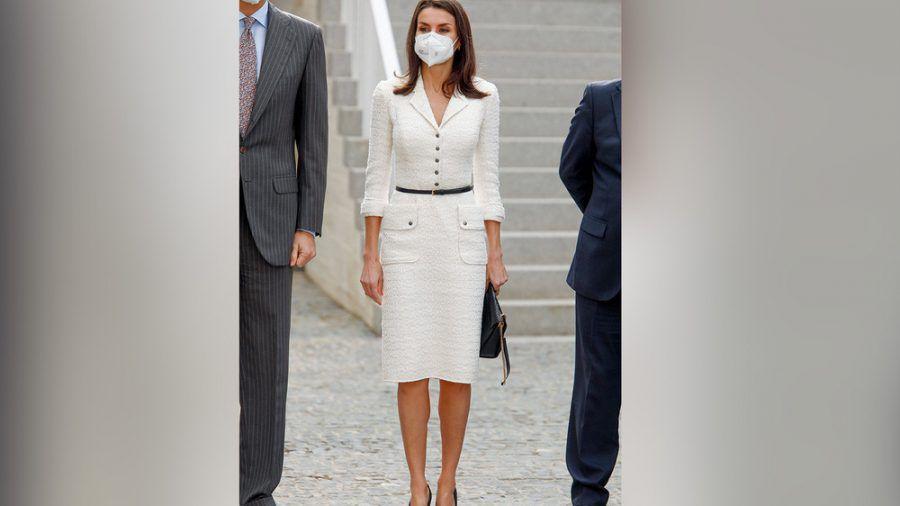 Königin Letizia bei ihrem Glanzauftritt in Weiß. (eee/spot)