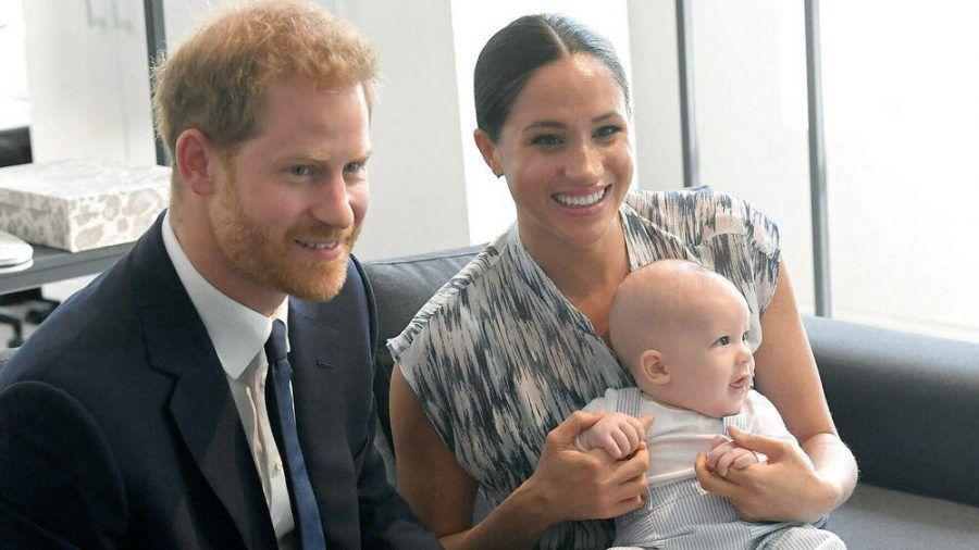 Prinz Harry mit Ehefrau Meghan und Archie im September 2019. (hub/spot)