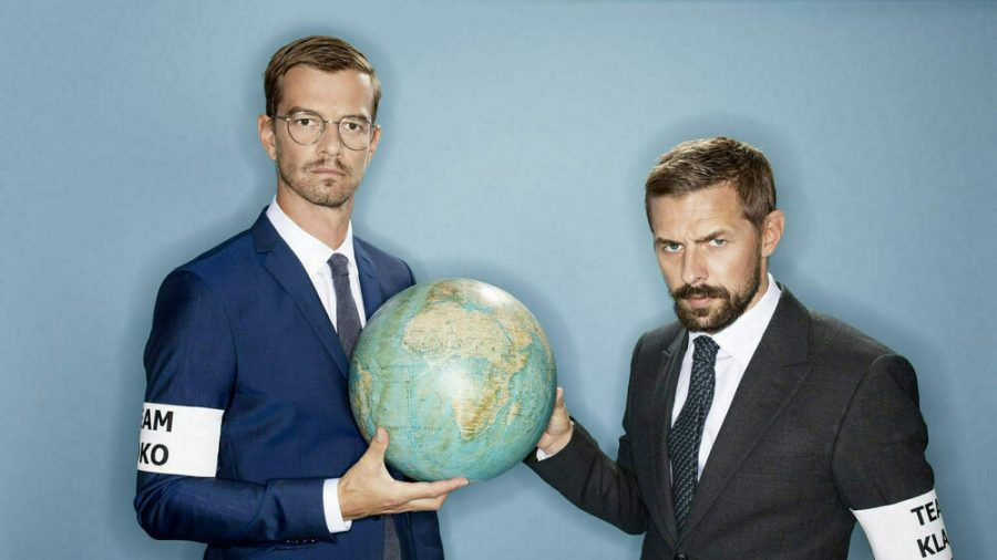 """Joko Winterscheidt (l.) und Klaas Heufer-Umlauf bei ihrem """"Das Duell um die Welt - Team Joko und Team Klaas"""" (dr/spot)"""