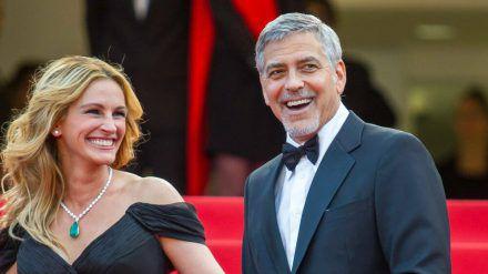 Julia Roberts und George Clooney auf den Filmfestspielen in Cannes 2016. (jru/spot)