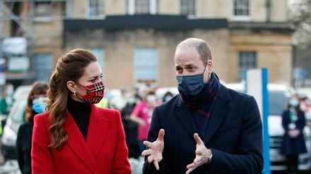 Prinz William und Herzogin Kate setzen ihre Popularität im Sinne der Impfkampagne ein. (dr/spot)
