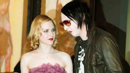 Marilyn Manson mit Lebensgefährtin und Schauspielerin Evan Rachel Wood