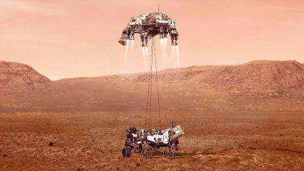 """Video: Hier landet die Nasa-Sonde """"Perseverance"""" auf dem Mars"""