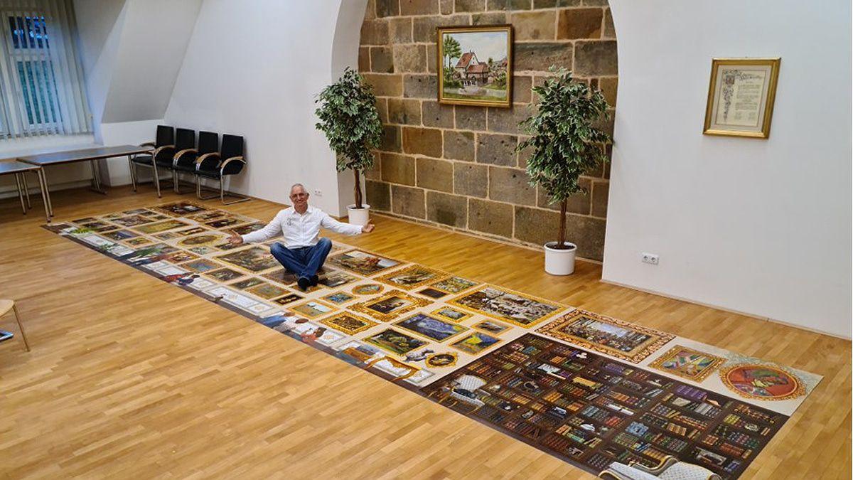 Der Puzzlekönig hat 53.999 Teile zusammen - eins fehlt!