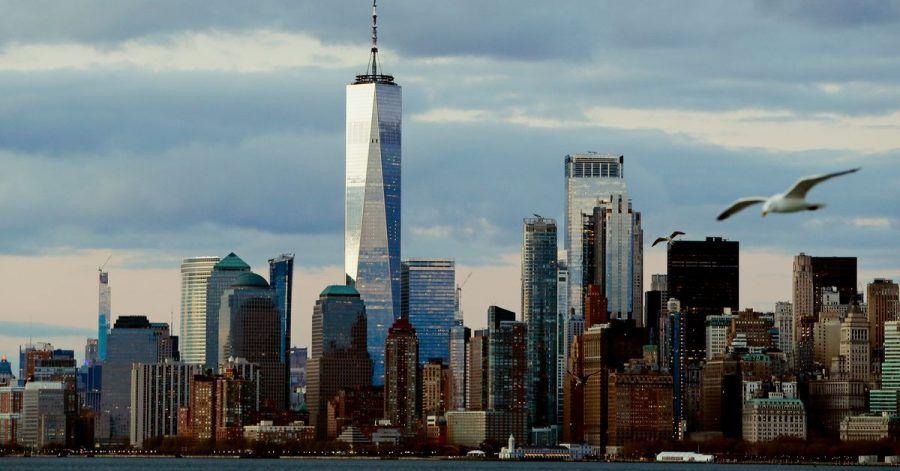 Die Skyline von New York City.