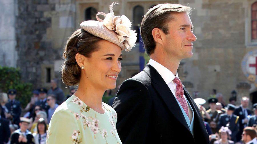 Pippa Middleton und ihr Ehemann James Matthews auf der Hochzeit von Prinz Harry und Herzogin Meghan 2018. (rto/spot)
