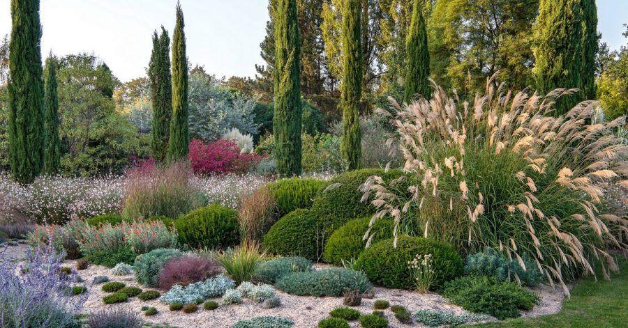 2019 veränderte Gartendesigner Peter Janke in seinem Garten die Bepflanzung - weg vom Rasen, der im Sommer vertrocknete, hin zu trockenheitsverträglichen Pflanzen und Sandmulch.