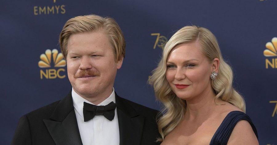 Schauspielerin Kirsten Dunst und Jesse Plemons sind 2018 zu Gast bei den Emmy Awards inLos Angeles.