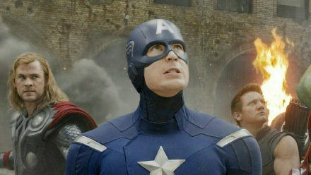 Chris Evans als Captain America (rto/spot)