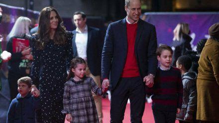 Familie Cambridge bei einem Auftritt in London (hub/spot)