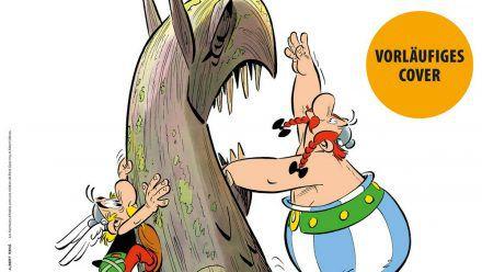 """So sieht das vorläufige Cover von """"Asterix und der Greif"""" aus. (dr/spot)"""