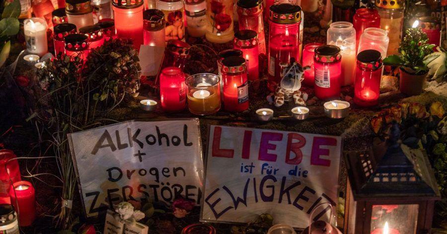 Eine Mahnwache für den bei dem Raserunfall getöteten 14-Jährigen in München.