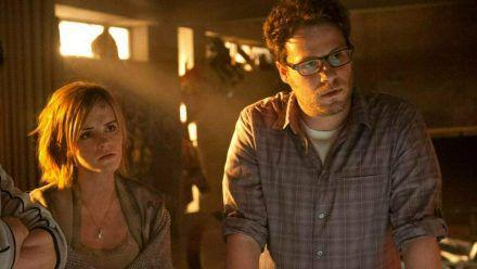 """Emma Watson und Seth Rogen standen gemeinsam für """"Das ist das Ende"""" vor der Kamera. (jru/spot)"""