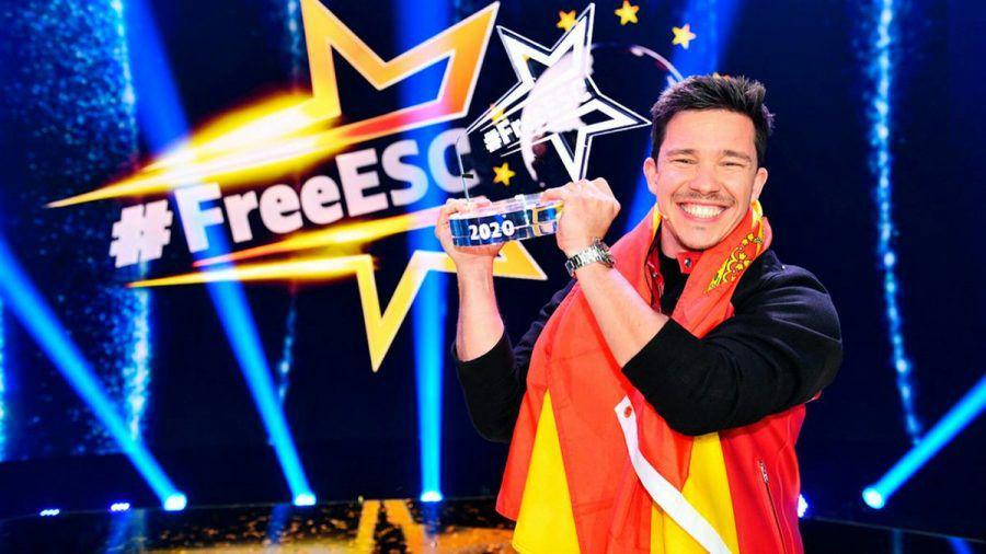 """Vergangenes Jahr gewann Nico Santos die """"Free ESC""""-Trophäe für Spanien. (wag/spot)"""