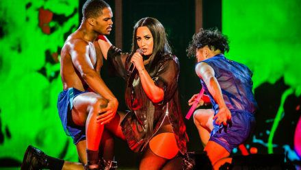 Demi Lovato bei einem Auftritt 2018. (jru/spot)