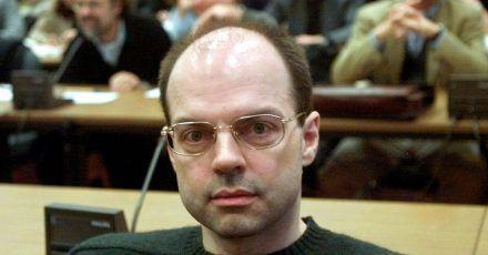 Thomas Drach, Drahtzieher der Reemtsma-Entführung, sitzt im Landgericht auf der Anklagebank.
