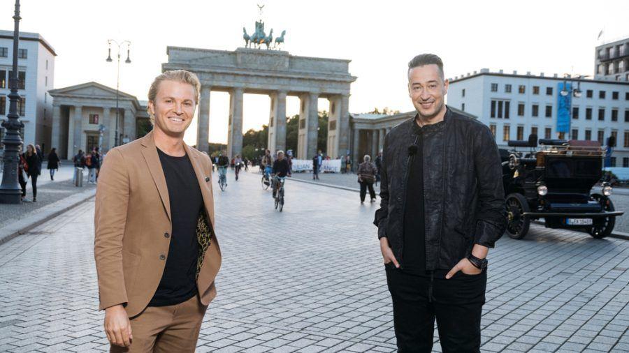 Nico Rosberg und Farid in Berlin. (mia/spot)