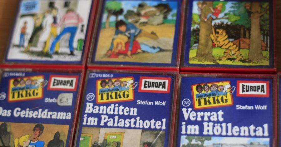 Audiokassetten der Jugend-Hörspielreihe «TKKG».