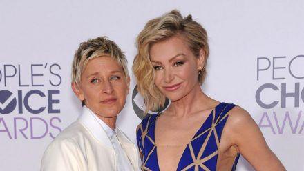 Ellen DeGeneres und Portia de Rossi (re.) sind seit 2008 verheiratet. (eee/spot)