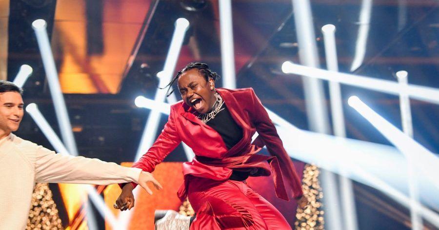Unbändige Freude:Tusse feiert seinen Sieg beim schwedischen Melodifestivalen.