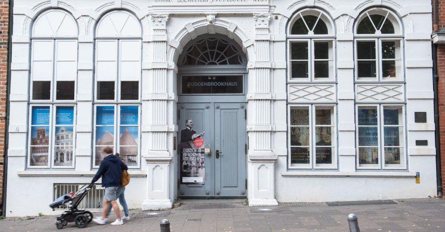 Das Buddenbrookhaus in Lübeck wird renoviert.