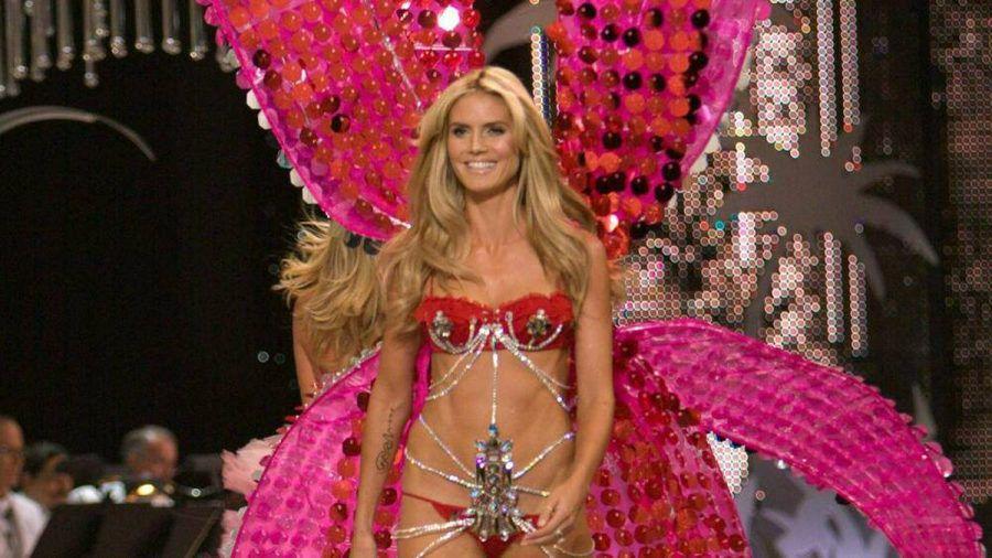 """Heidi Klum präsentierte von 1999 bis 2010 als """"Victoria's Secret""""-Engel Unterwäsche - hier ist sie im Jahr 2008 zu sehen. (ili/spot)"""