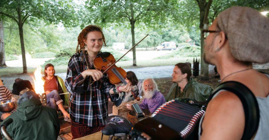 Musiker in Rudolstadt (2018).