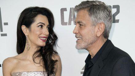 George Clooney bringt seinen Zwillingen schlimme Sachen bei