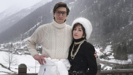 """""""House Of Gucci"""": Erstes Foto mit Lady Gaga als berüchtigte """"schwarzen Witwe"""""""