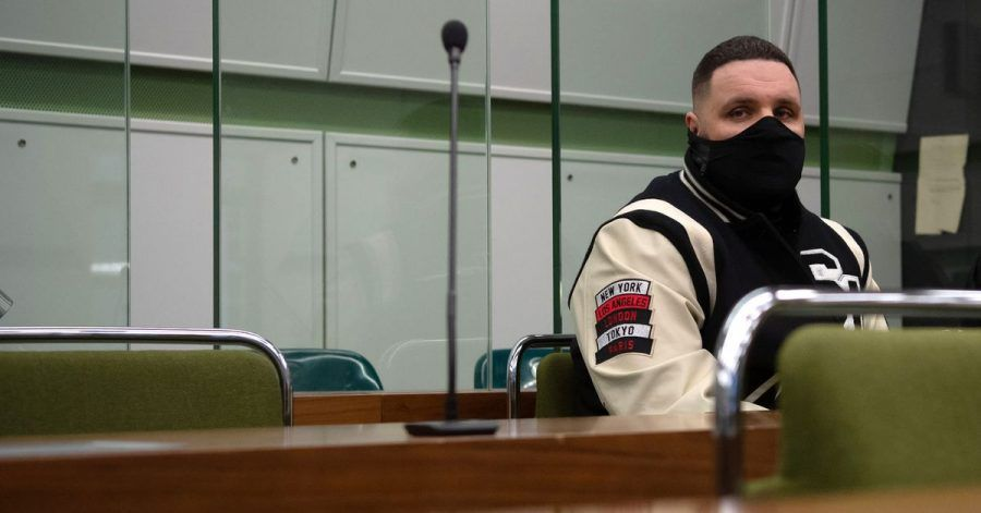 Rapper Fler, bürgerlich Patrick Losensky, im Januar 2021 im Gerichtssaal.