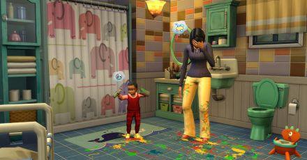 «Die Sims» ist ein Spiel wie das Leben selbst - eben auch mal mit vielen bunten Kinderfarbklecksen im Bad!