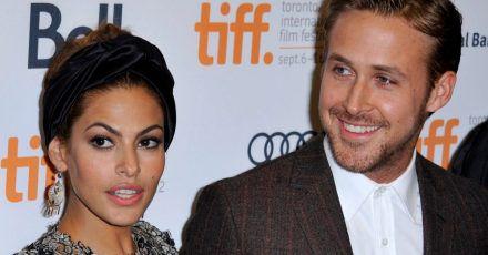 Die schauspielerin Eva Mendes in Begleitung ihres Partners und Kollegen Ryan Gosling.