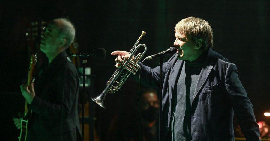 Die schönere, die andere Stimme:Sven Regener und seine Trompete.
