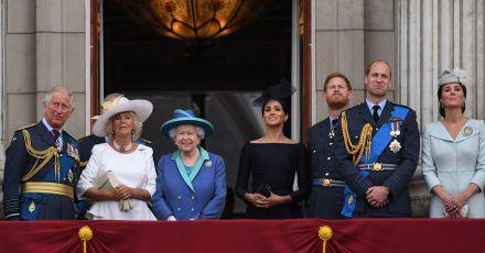 Der britische Königsfamilie (2018).