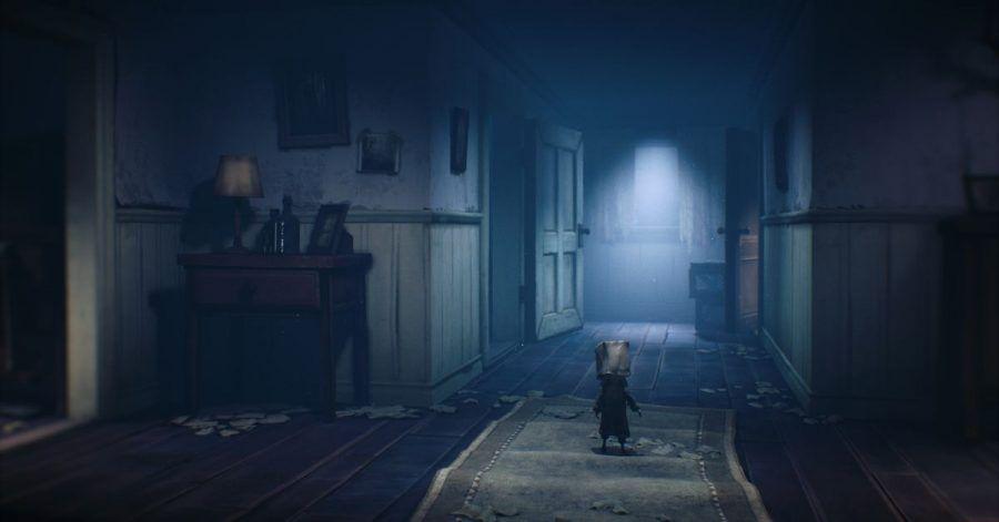 Kleiner Kerl mit extravagantem Kopfschmuck:Warum «Little Nightmares 2»-Held Mono die Papiertüte trägt, wird später im Spiel klar.