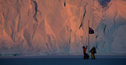Australische Expeditionsteilnehmer auf der Mawson-Station.