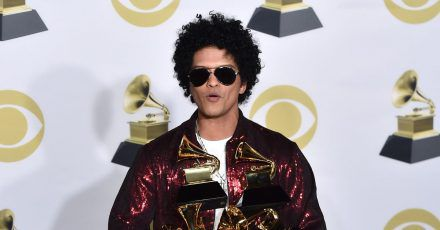 Bruno Mars bei der Grammy-Verleihung 2018.