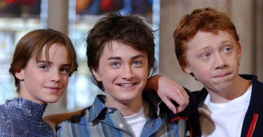 Emma Watson (l-r), Daniel Radcliffe und Rupert Grint bei einem Fototermin für «Harry Potter und die Kammer des Schreckens».
