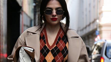 Model Doina Ciobanu im Rahmen der London Fashion Week. (cos/spot)