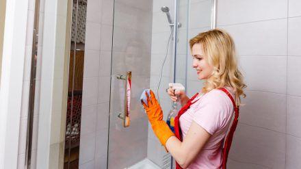In der Duschkabine entstehen leicht Schimmel und Kalkablagerungen. (spot)